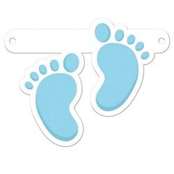 Letterslinger tussenstuk blauwe voetjes