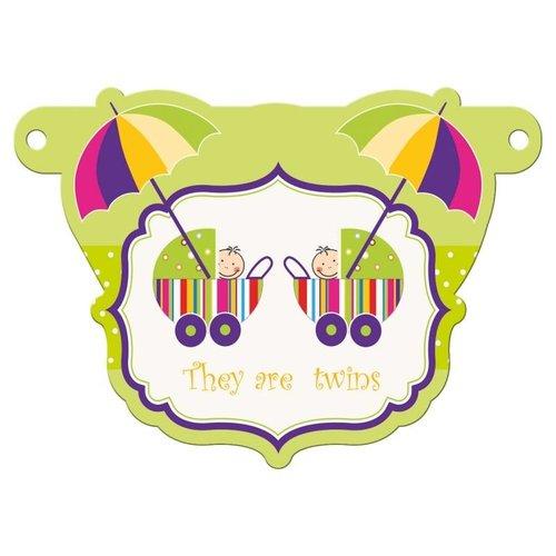 Letterslinger tussenstuk kinderwagen tweeling