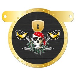Letterslinger tussenstuk zwarte piraat