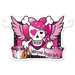 Letterslinger tussenstuk roze piraat