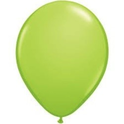Ballon lime groen 10 stuks mettalic