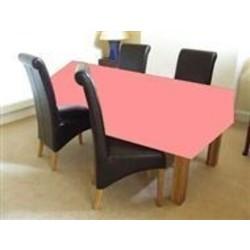 Licht roze tafelkleed