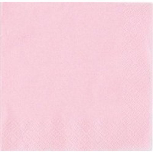 Servetten, licht roze 20 stuks