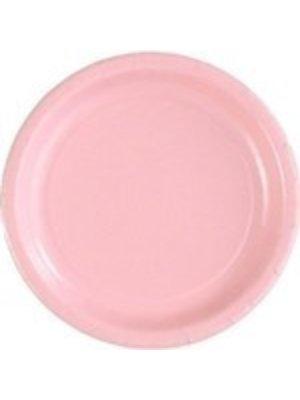 Bord 23 cm 16 stuks licht roze