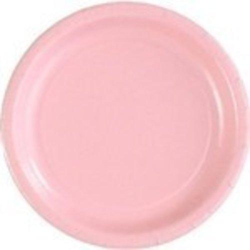 Gebaksbordje 18 cm 20 stuks licht roze