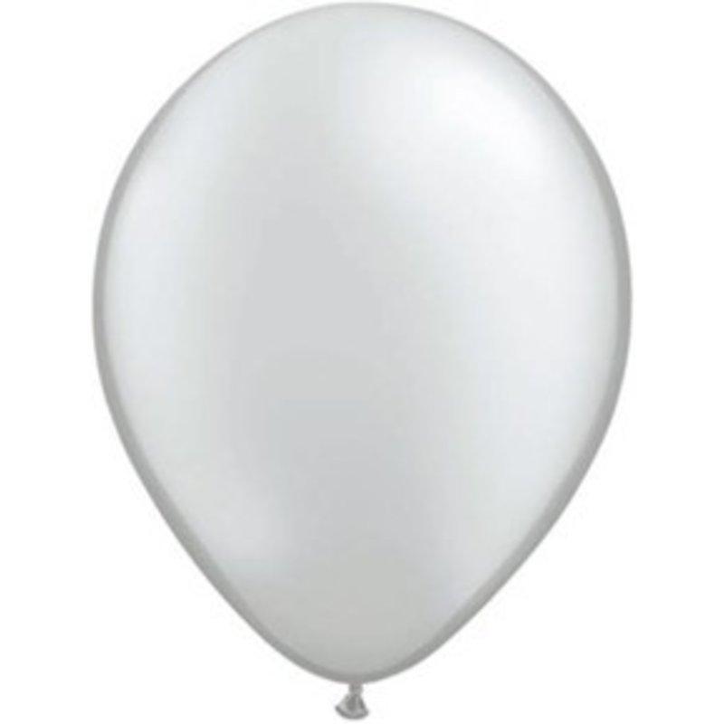 Ballonnen zilver, 10 stuks