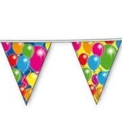 Vlaggenlijn, met afbeelding ballonnen gekleurd