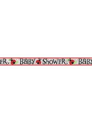 Banner slinger babyshower Lively Ladybug