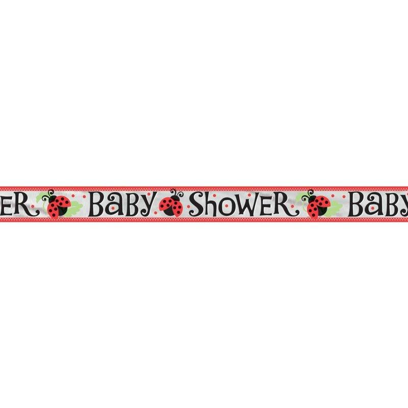 Banner slinger babyshower lieverheersbeestje rood