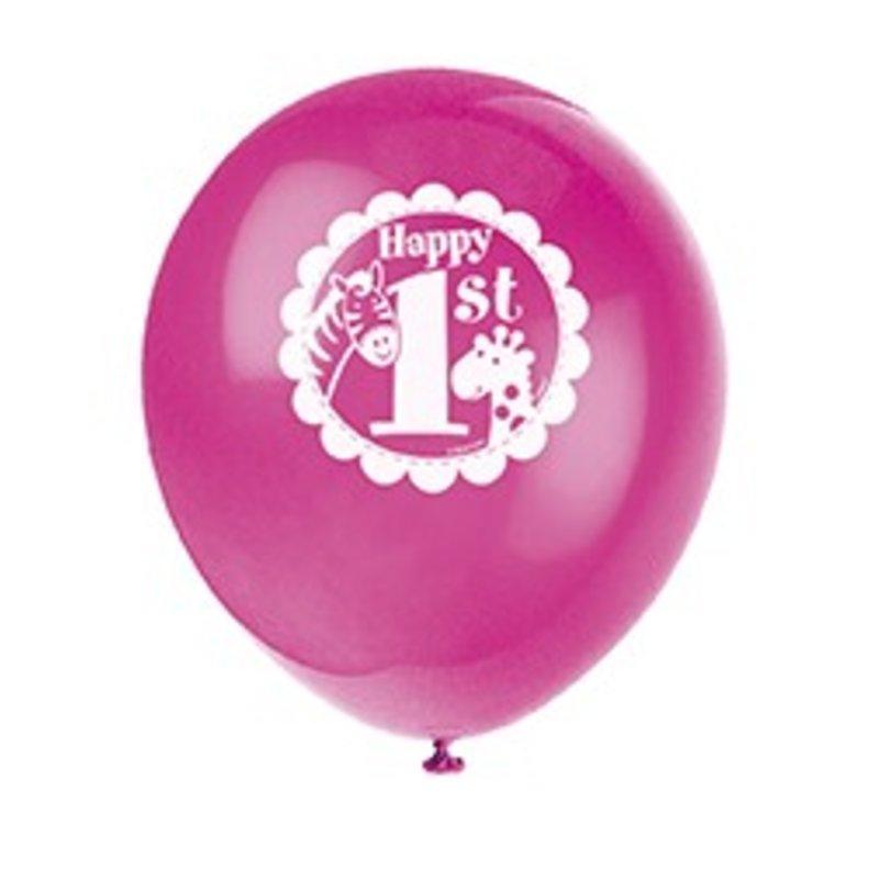ballonnen eerste verjaardag meisje safari