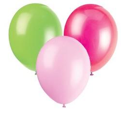 Ballonnen lime, roze en baby roze