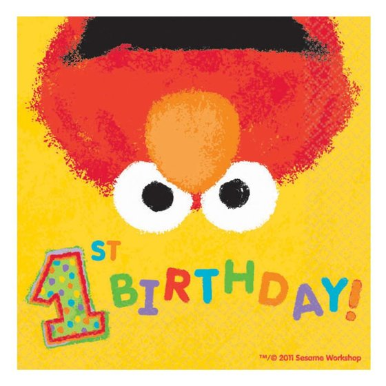 Elmo feestartikelen 1 jaar