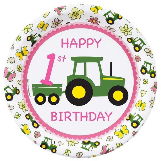 John Deere tractor 1 jaar meisje