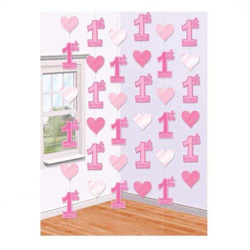Hangdecoratie lang meisje 1 jaar makkelijkfeestje - Decoratie slaapkamer meisje jaar ...