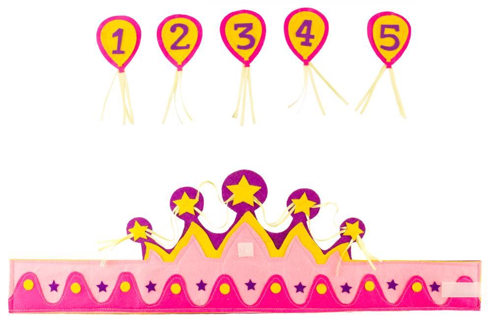 verjaardag meisje 5 jaar Verjaardagskroon voor een meisje, leeftijd 1 5 jaar  verjaardag meisje 5 jaar