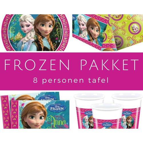 Feestpakket Frozen 8 personen tafeldecoratie