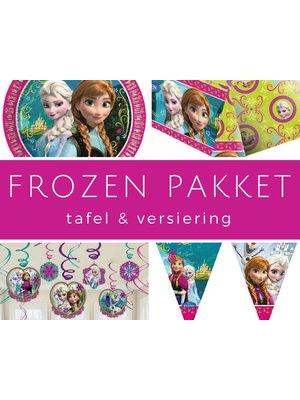 Verjaardag feestpakket Frozen tafel en versiering