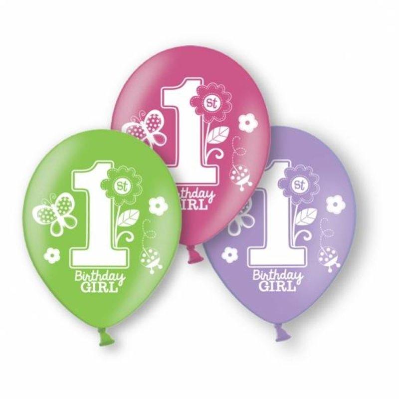 Ballonnen eerste verjaardag ballonnen vlinder