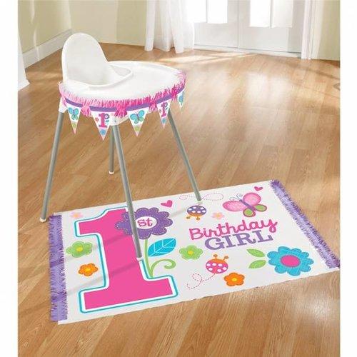 Kinderstoel versiering, eerste verjaardag vlinder