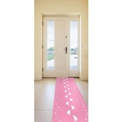 Loper baby roze ( geboorte versiering & baby shower )