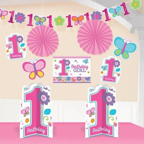 Kamer decoratie set eerste verjaardag vlinder