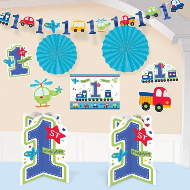Eerste verjaardag versiering makkelijkfeestje - Decoratie slaapkamer jongen jaar ...
