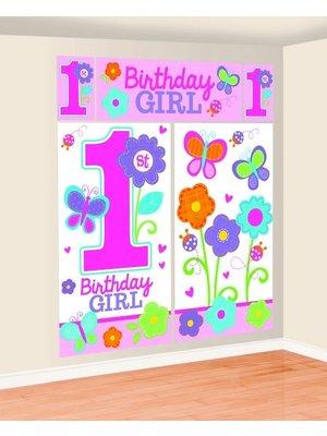 Eerste verjaardag vlinder mega posters (5 stuks)