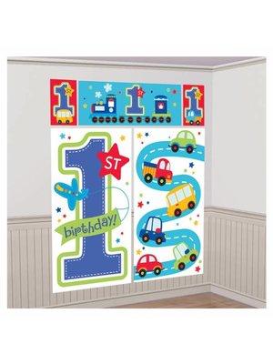 Eerste verjaardag transport mega posters (5 stuks)
