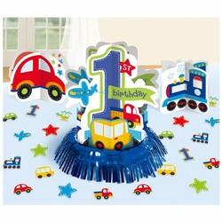 Tafeldecoratie eerste verjaardag transport