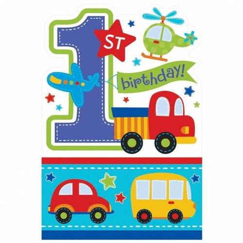 uitnodigingen eerste verjaardag transport