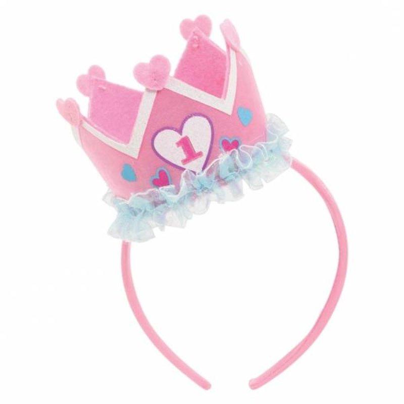 Kroon eerste verjaardag meisje makkelijkfeestje - Decoratie slaapkamer meisje jaar ...