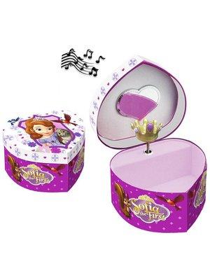 Sofia het prinsesje juwelen doosje met muziek (hart vorm)