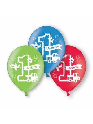 Ballonnen eerste verjaardag jongen Transport