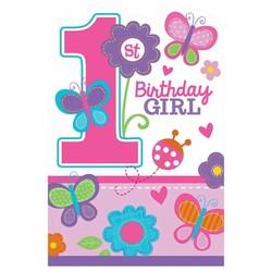 uitnodigingen eerste verjaardag meisje
