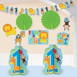 Kamer decoratie set eerste verjaardag jongen (safari)