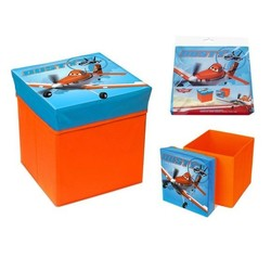 Planes opbergbox en pouf in 1