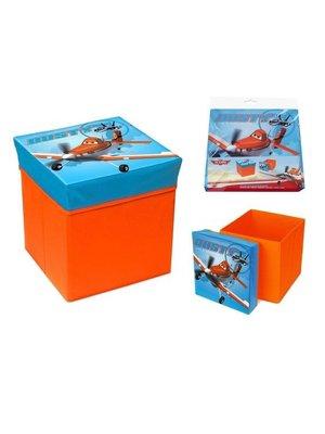 Planes opbergbox en pouf in 1