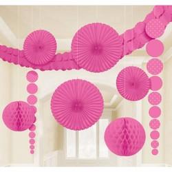 feestpakket met versiering (knal roze)
