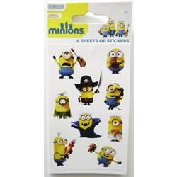 Uitdeelcadeautjes minions: 6 sticker vellen