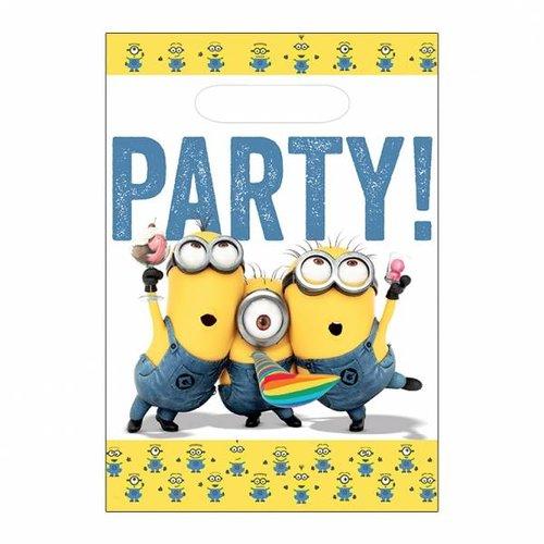 Minions feestzakjes (met gele rand)