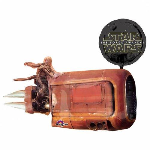 Star Wars: The Force Awakens, rey's speeder ballon