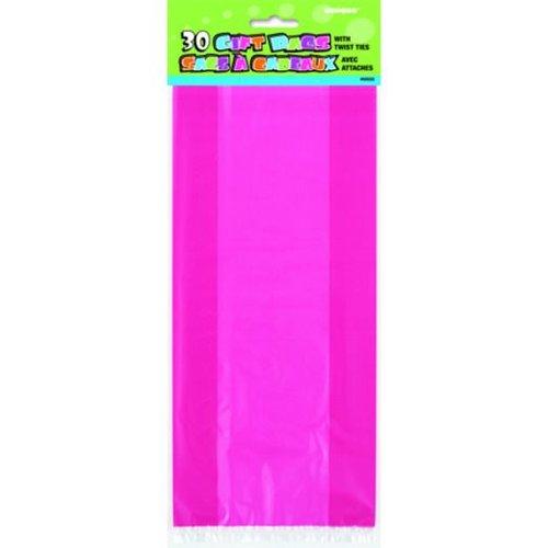 Cello bag, fuchsia roze (feestzakjes / inpakzakjes 30 stuks)