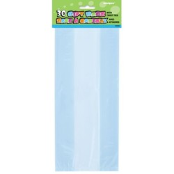 Cello bag, licht blauw (feestzakjes / inpakzakjes 30 stuks)