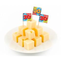 Cocktail prikkers blocks (30 jaar)