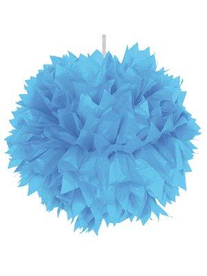 pom pom blauw