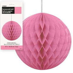 honey comb ball fuchsia roze, klein