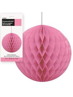 honey comb ball fuchsia roze, klein