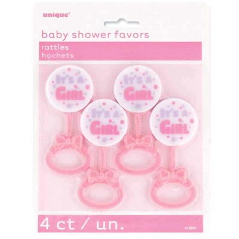 baby shower meisje rammelaar