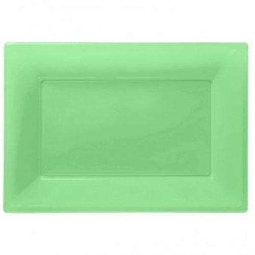 Rechthoekige schalen (3 stuks) lime groen