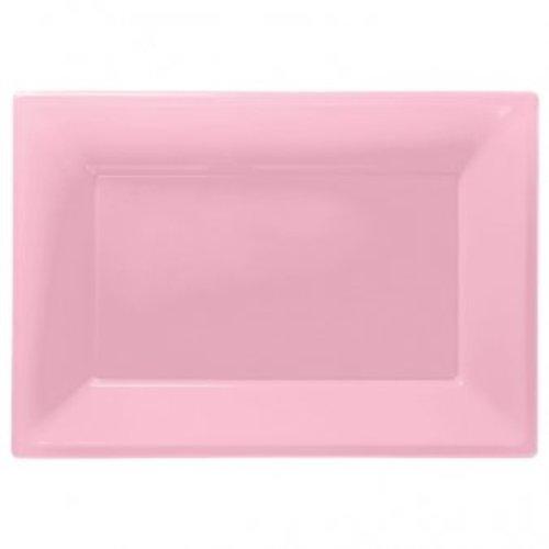 Rechthoekige schalen (3 stuks) baby roze